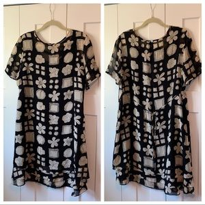 Liz Claiborne Dress plus size 16 black white